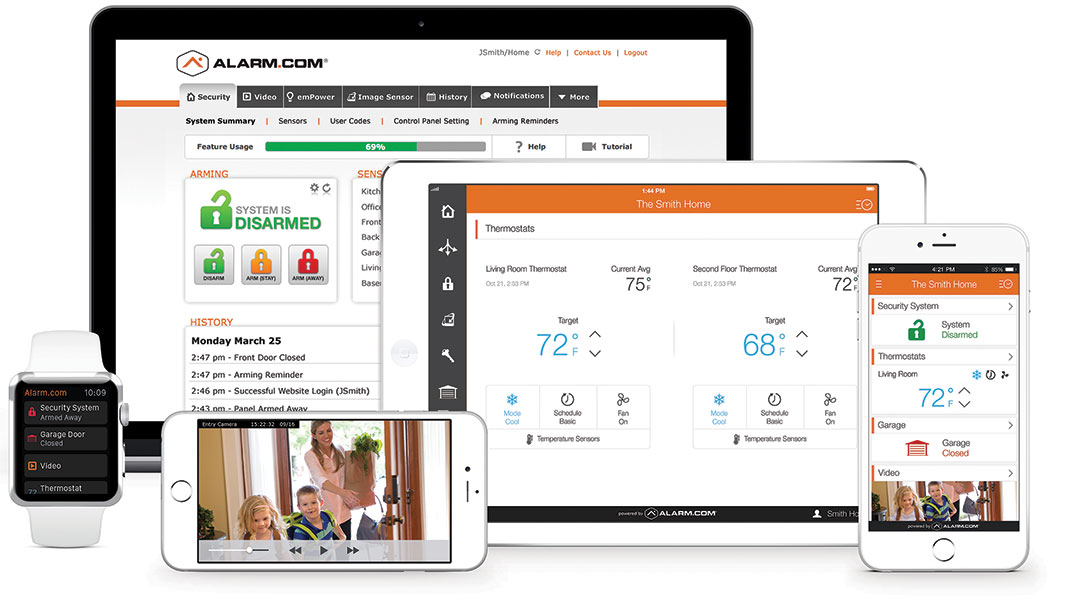 Oversee your security systems for home from any device