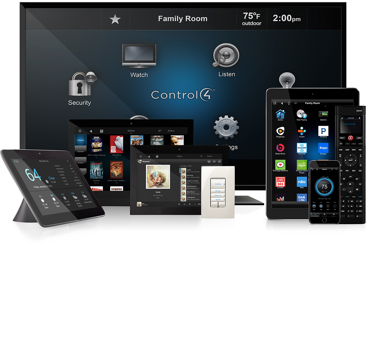 Home automation controls from Symspire