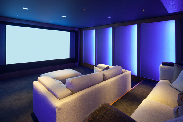 Smart home theater installation from Symspire